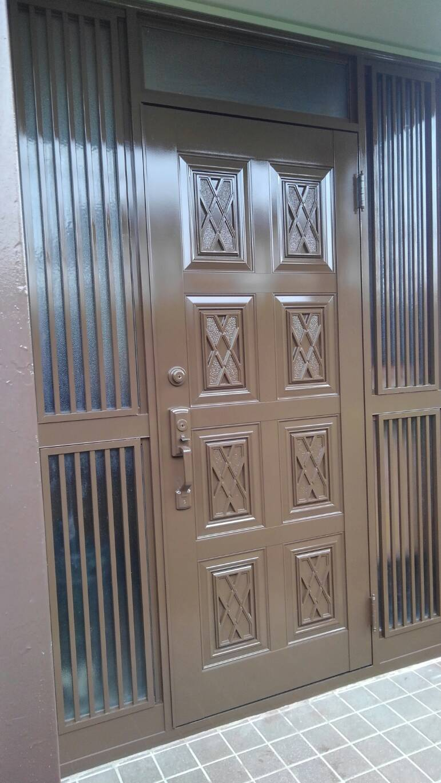アルミ製玄関ドアの塗装